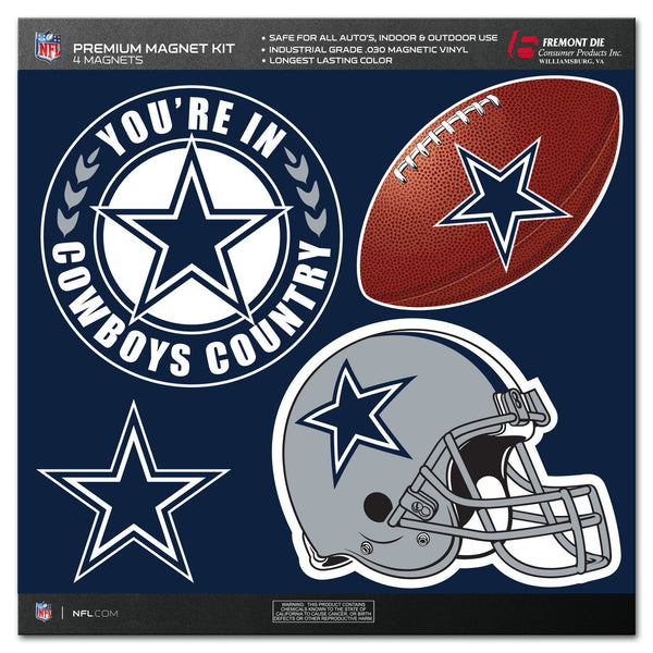 NFL DALLAS COWBOYS 4 PIECE MAGNET KIT