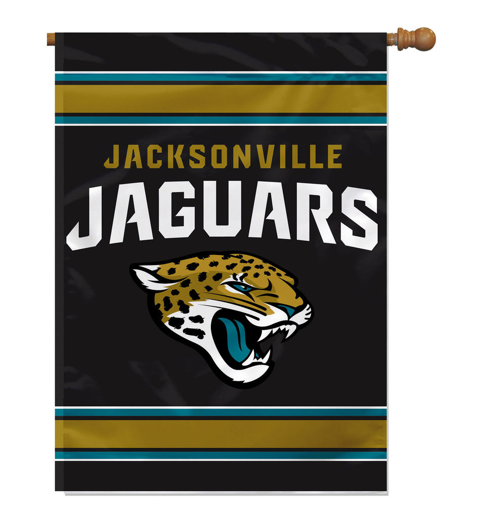 NFL JACKSONVILLE JAGUARS  2-SIDED HOUSE FLAG (Imported)