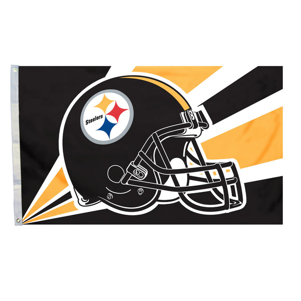 NFL PITTSBURGH STEELERS HELMET 3' X 5' FLAG
