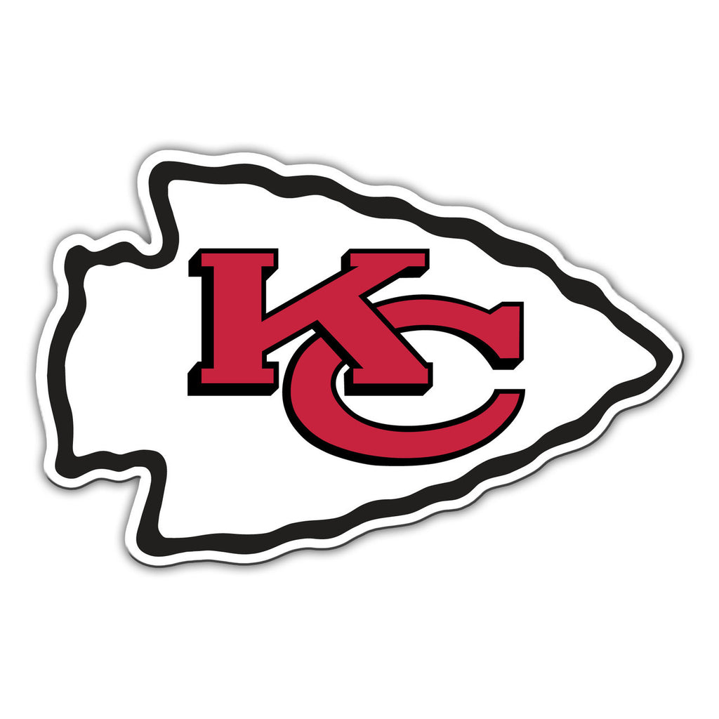 "NFL KANSAS CITY CHIEFS 12"" MAGNET"