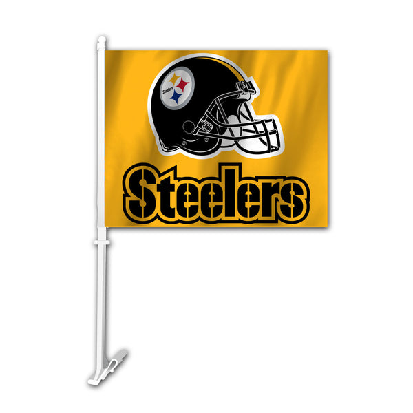 NFL PITTSBURGH STEELERS CAR FLAG (GOLD)