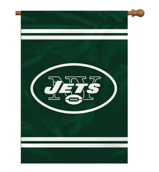 NFL NEW YORK JETS 2-SIDED HOUSE FLAG