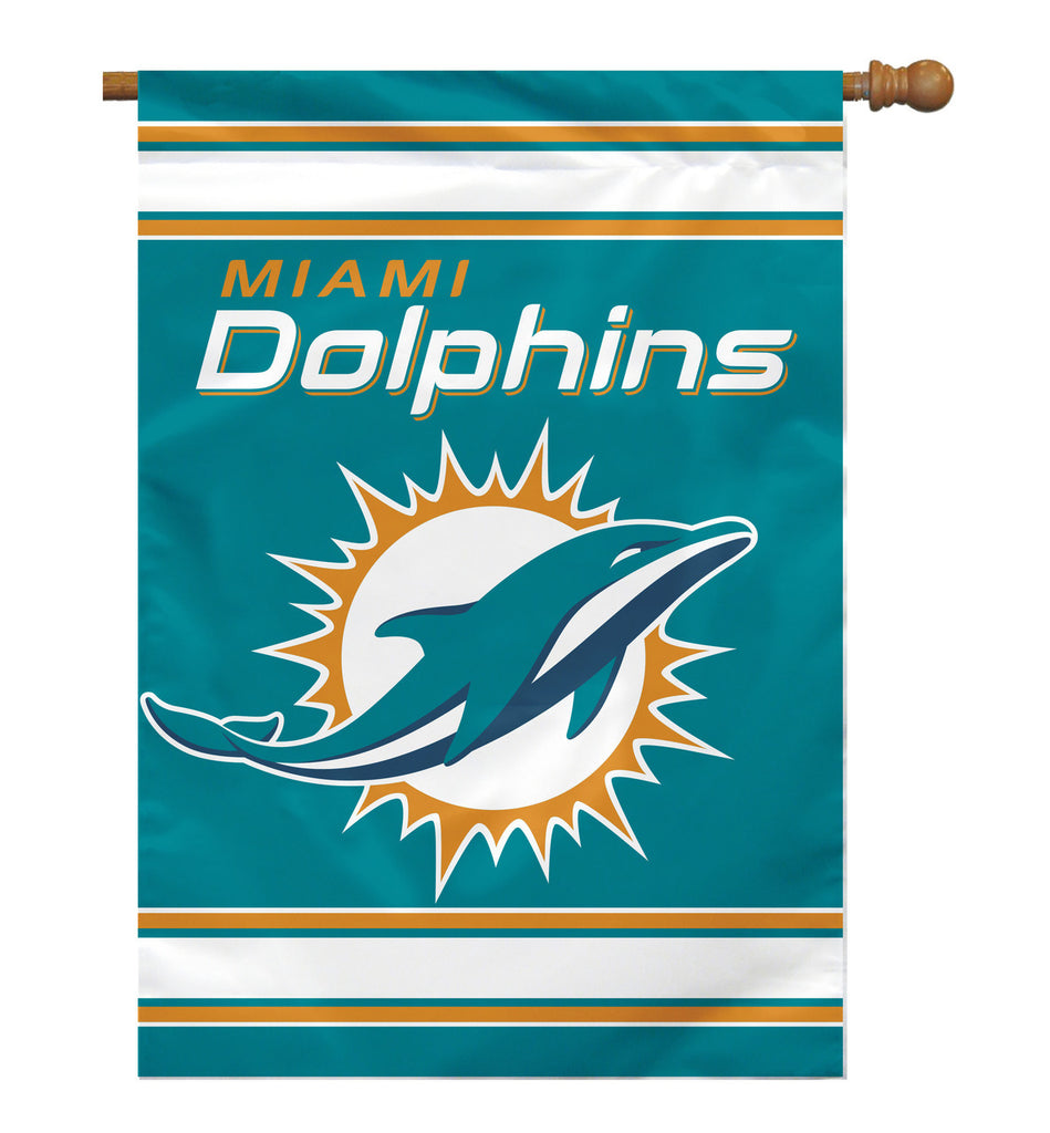 NFL MIAMI DOLPHINS 2-SIDED HOUSE FLAG (Imported)
