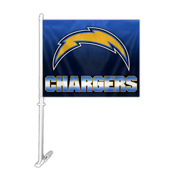 NFL LOS ANGELES CHARGERS OMBRE CAR FLAG
