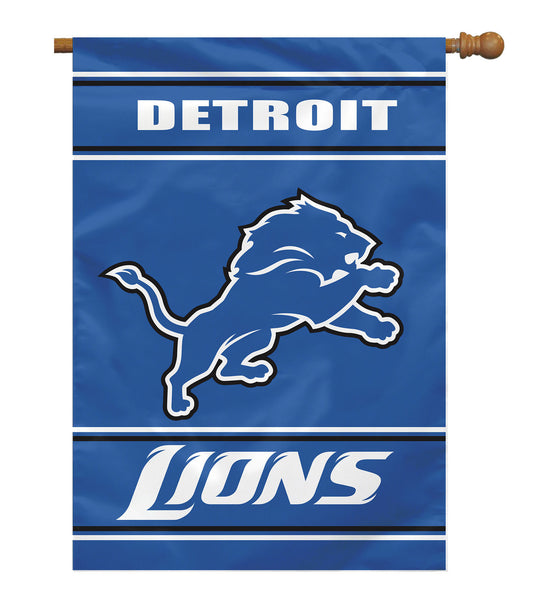 NFL DETROIT LIONS 2-SIDED HOUSE FLAG (Imported)