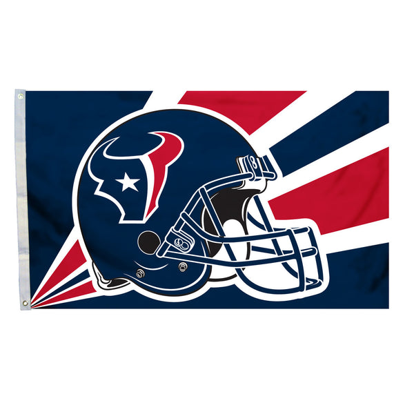 NFL HOUSTON TEXANS HELMET 3' X 5' FLAG