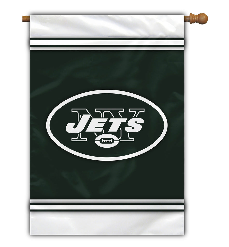 NFL NEW YORK JETS 1-SIDED HOUSE FLAG