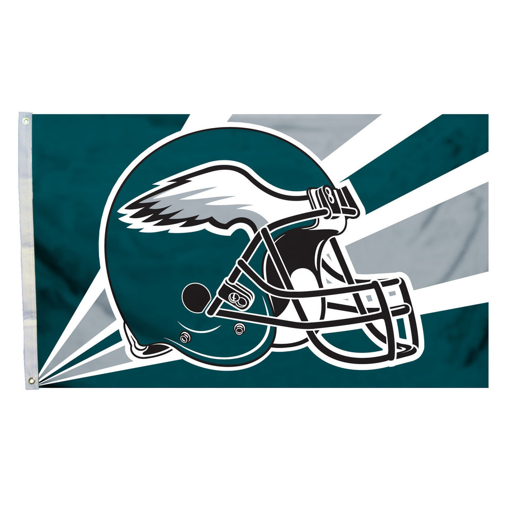 NFL PHILADELPHIA EAGLES HELMET 3' X 5' FLAG