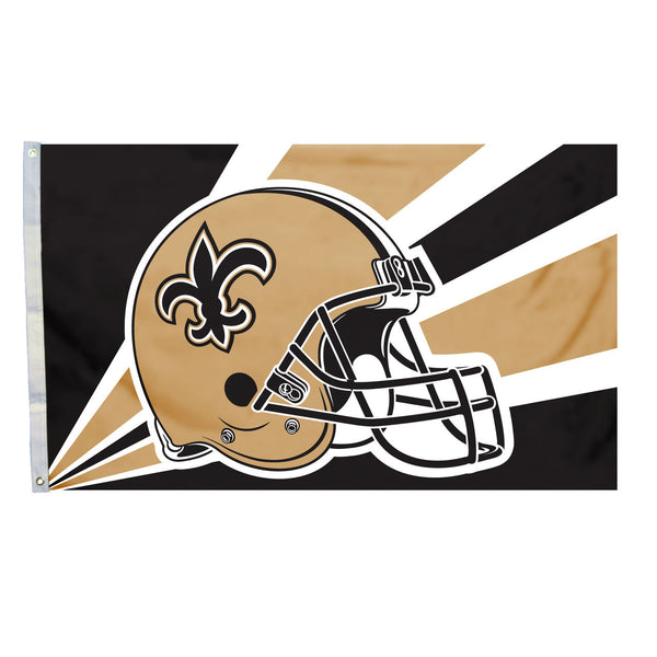 NFL NEW ORLEANS SAINTS HELMET 3' X 5' FLAG