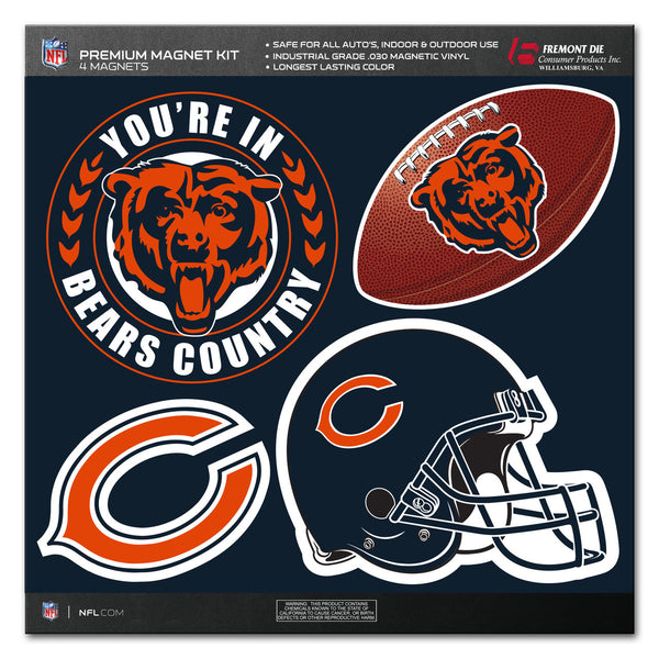 NFL CHICAGO BEARS 4 PIECE MAGNET KIT
