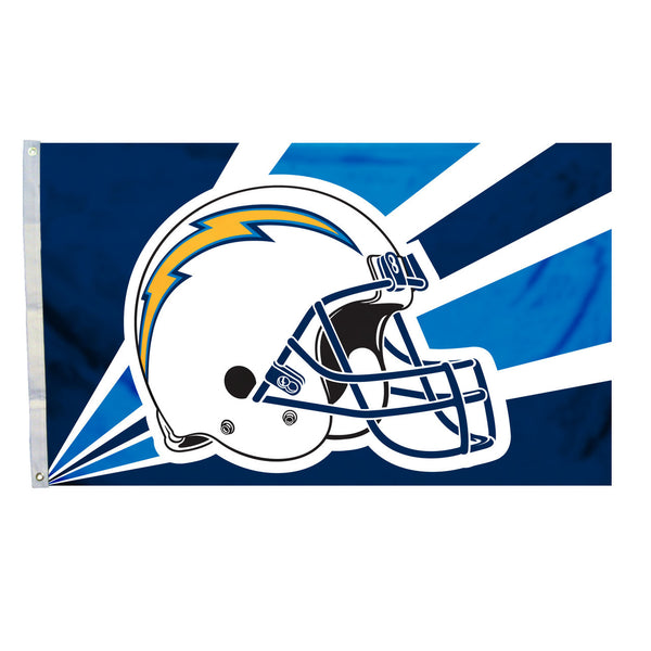 NFL LOS ANGELES CHARGERS HELMET 3' X 5' FLAG