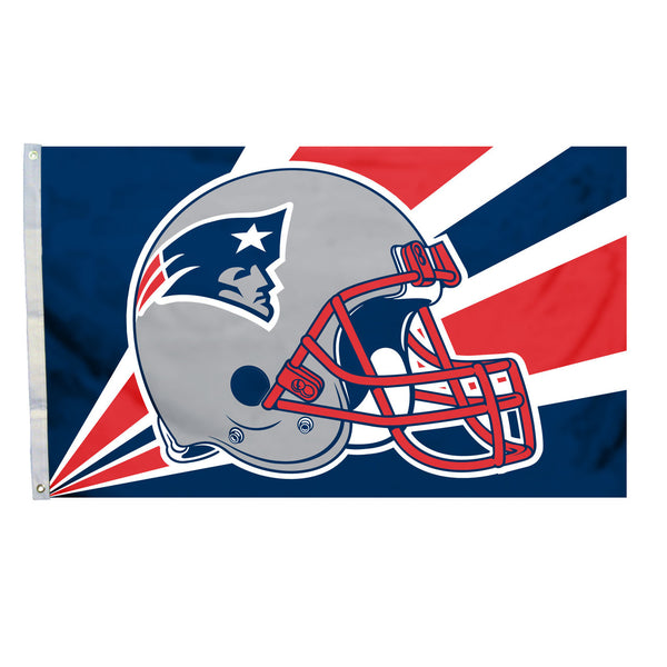 NFL NEW ENGLAND PATRIOTS HELMET 3' X 5' FLAG