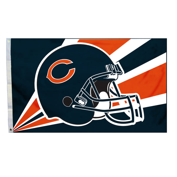 NFL CHICAGO BEARS HELMET 3' X 5' FLAG