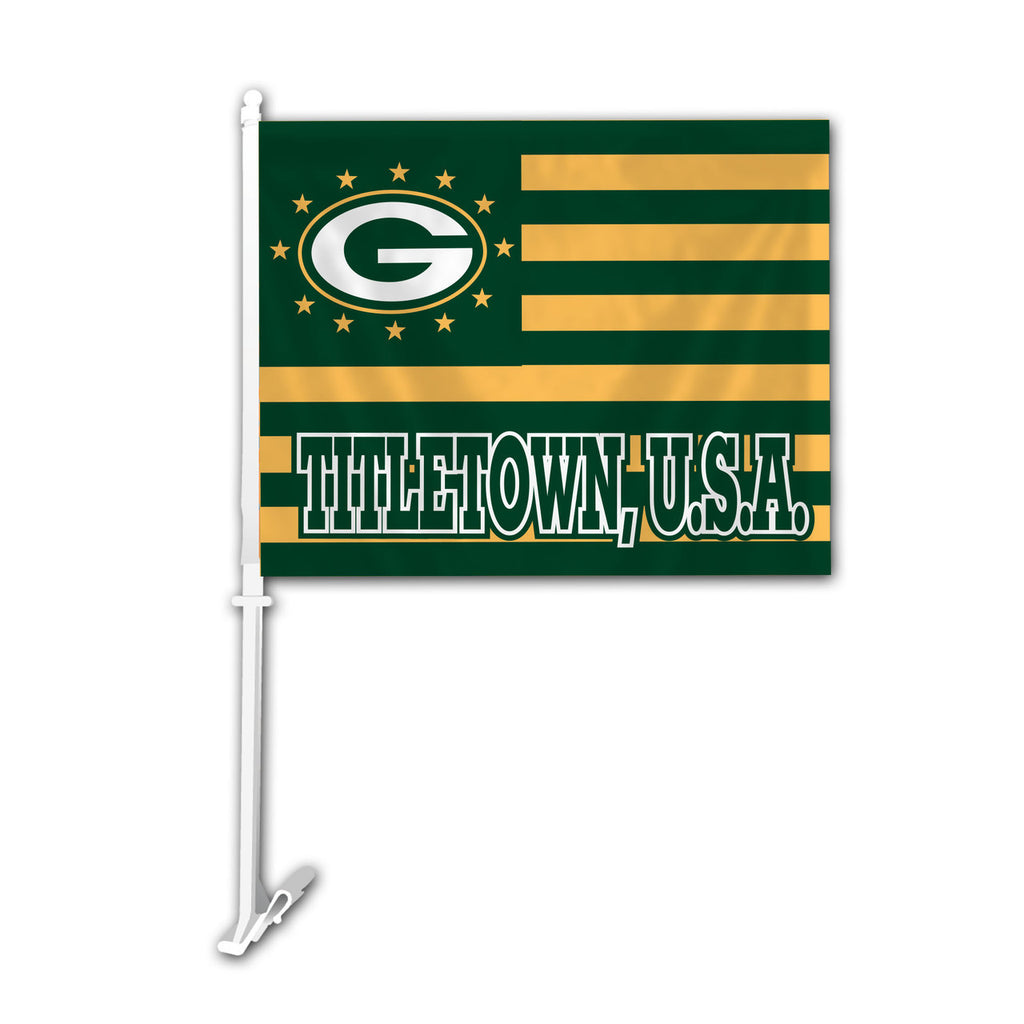 NFL GREEN BAY PACKERS TITLETOWN CAR FLAG