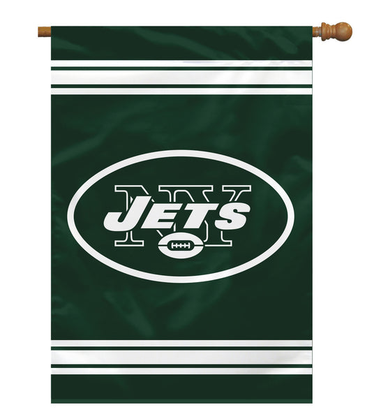 NFL NEW YORK JETS 2-SIDED HOUSE FLAG (Imported)