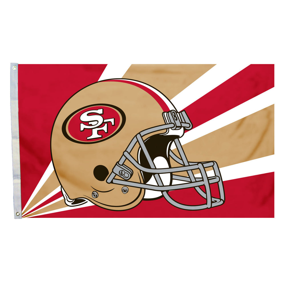 7eb4e8dade7cd San Francisco 49ers Official 3X5 Helmet Flag – Fremont Die Retail Store