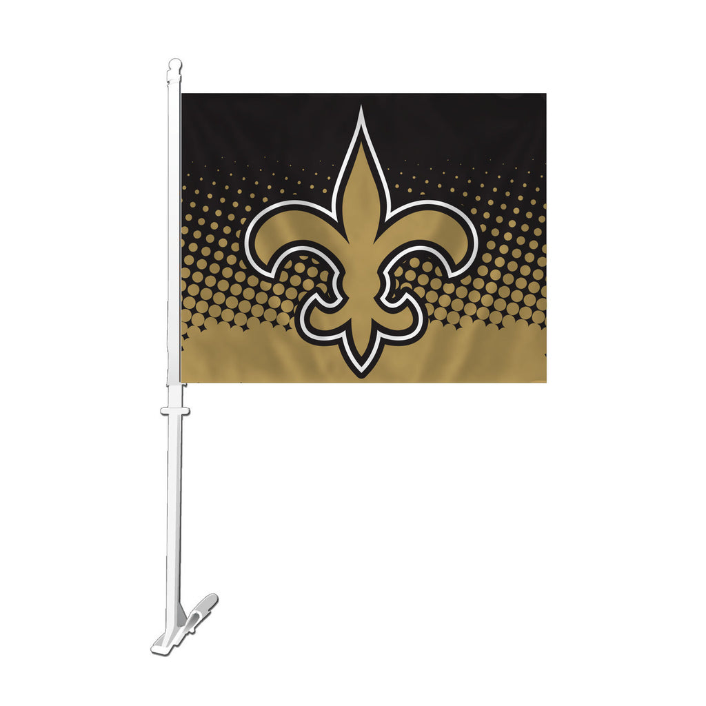 NFL NEW ORLEANS SAINTS FLEUR CAR FLAG