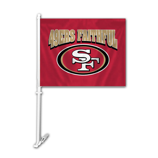 NFL SAN FRANCISCO 49ERS FAITHFUL CAR FLAG