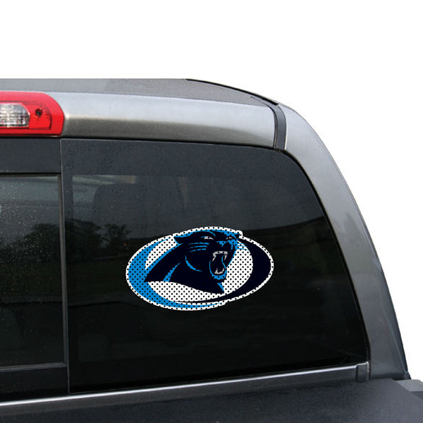 NFL Carolina Panthers Swoosh Small Window Film