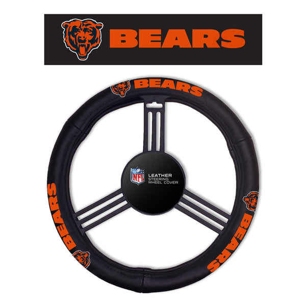 Fremont Die Chicago Bears Leather Steering Wheel Cover