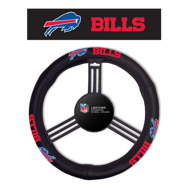 Fremont Die Buffalo Bills Leather Steering Wheel Cover