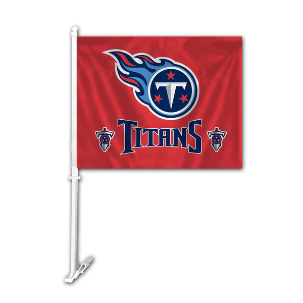 NFL TENNESSEE TITANS CAR FLAG (RED)
