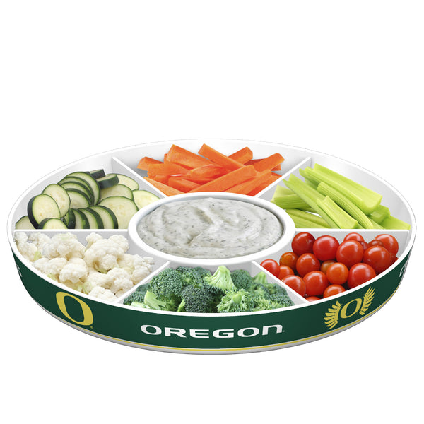 Oregon Ducks Party Platter With Veggies