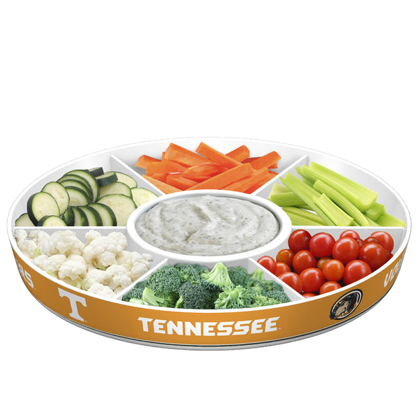 Tennessee Volunteers Party Platter With Veggies
