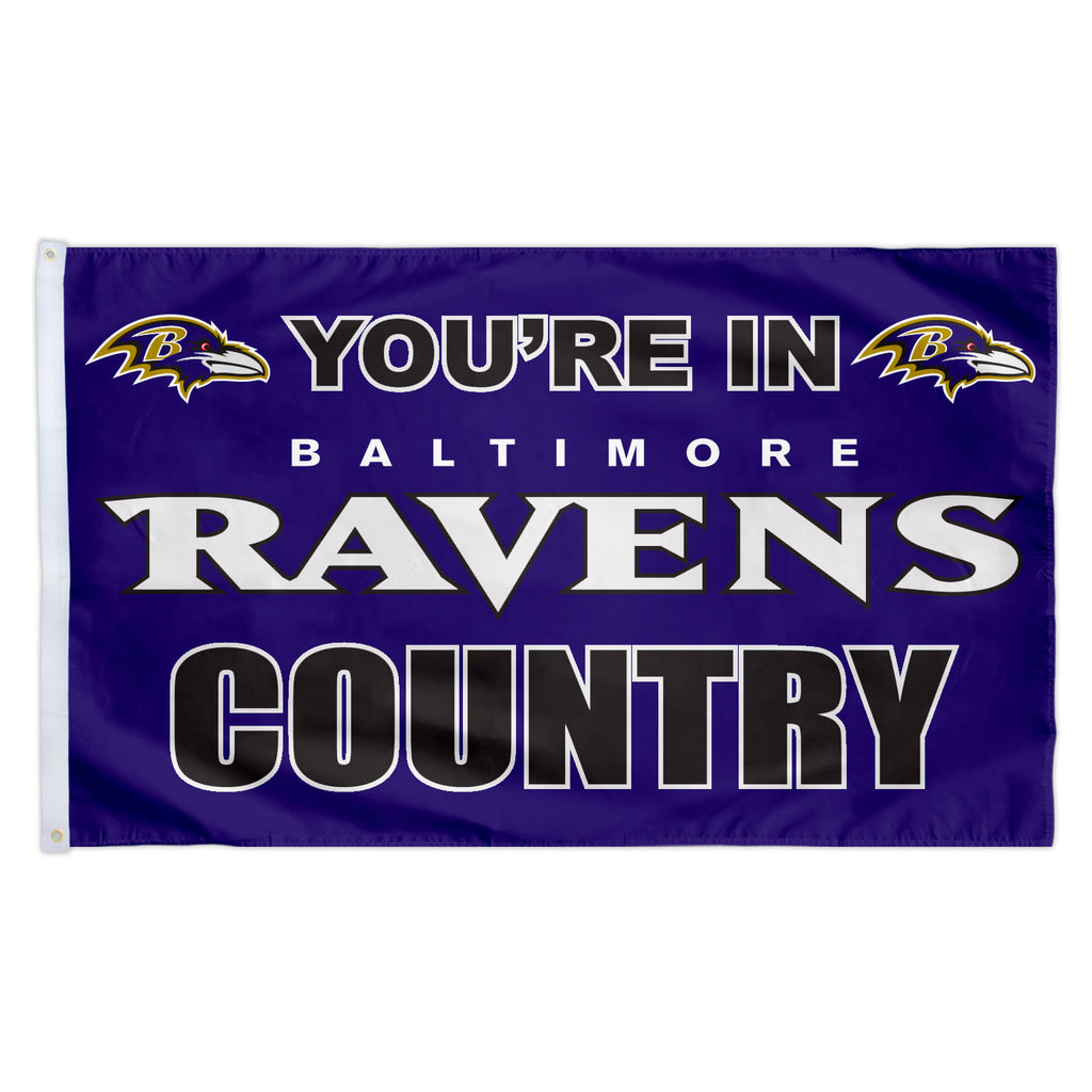 Baltimore Ravens 3X5 Country Flag