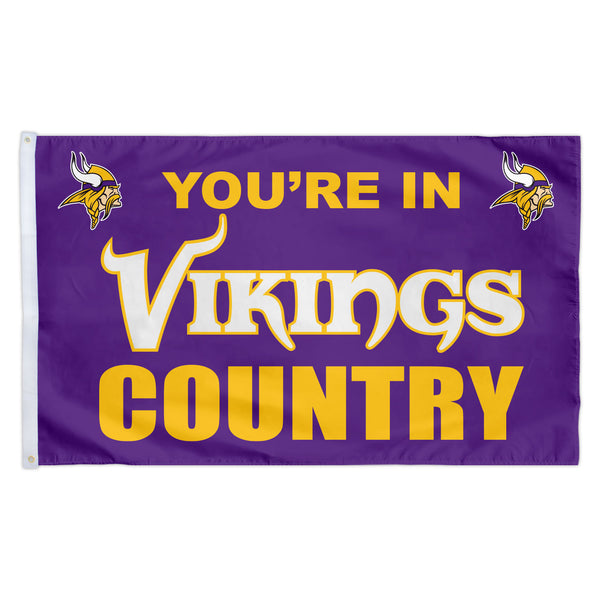 Minnesota Vikings 3X5 Country Flag