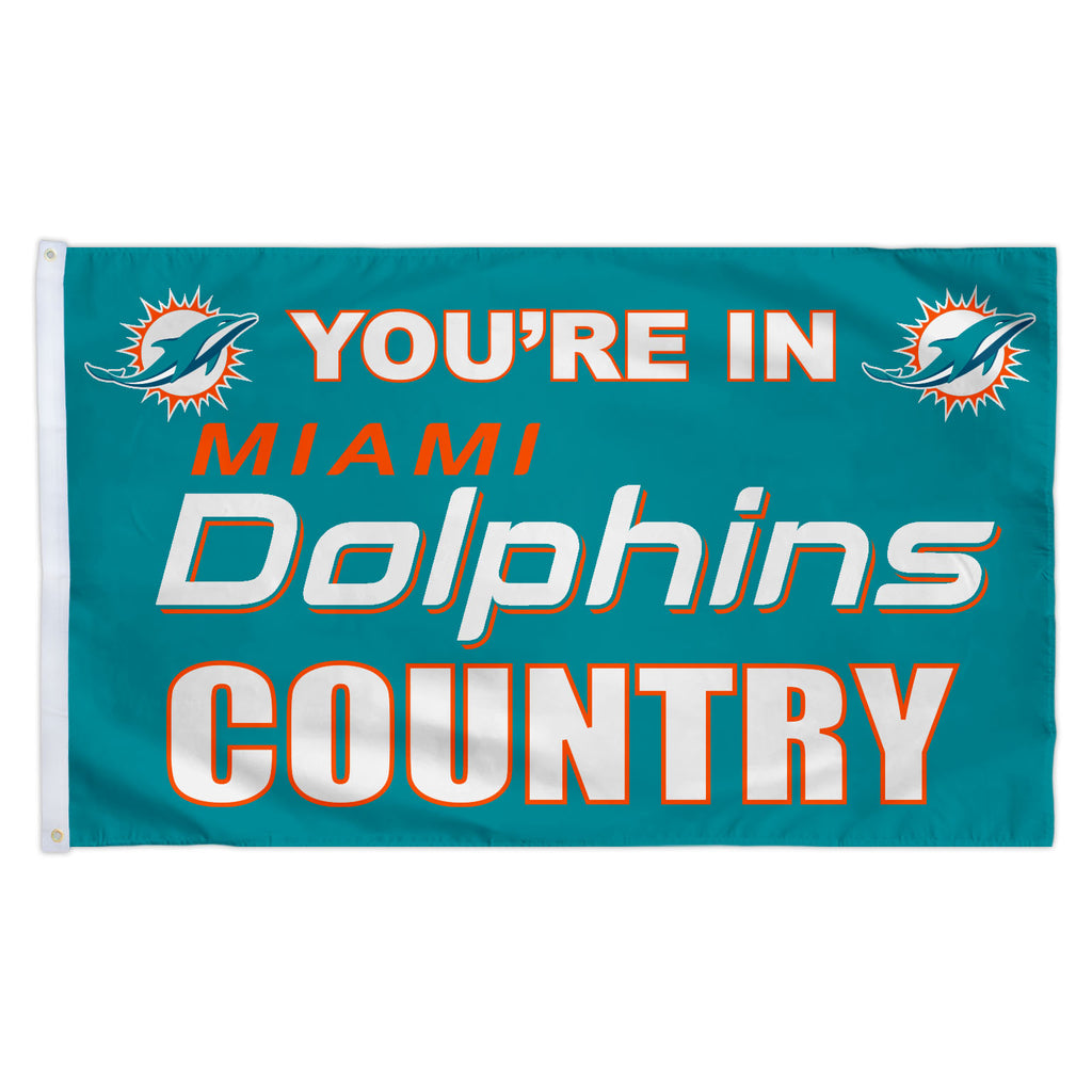 Miami Dolphins 3X5 Country Flag