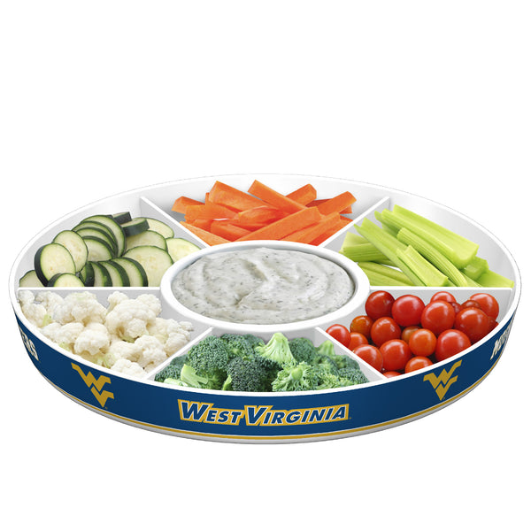 West Virginia Mountaineers Party Platter With Veggies