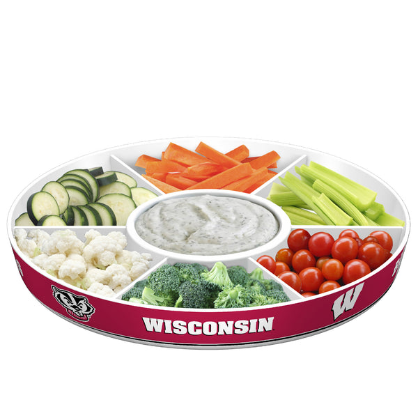 Wisconsin Badgers Party Platter With Veggies