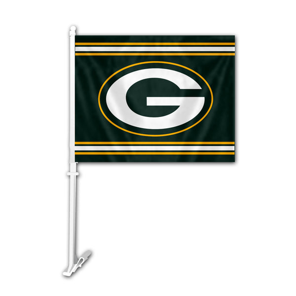 NFL GREEN BAY PACKERS CAR FLAG (STRIPES)