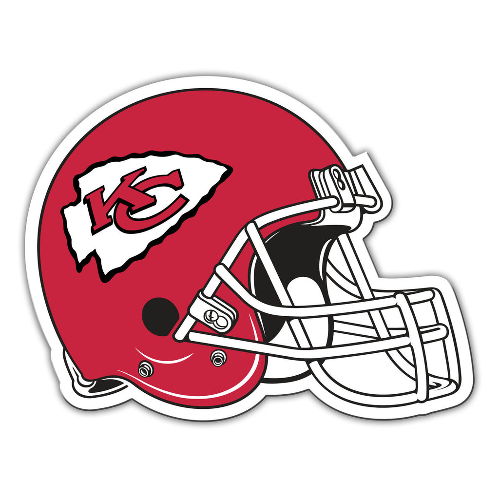 "NFL KANSAS CITY CHIEFS 12"" HELMET MAGNET"