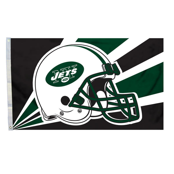 NFL NEW YORK JETS HELMET 3' X 5' FLAG