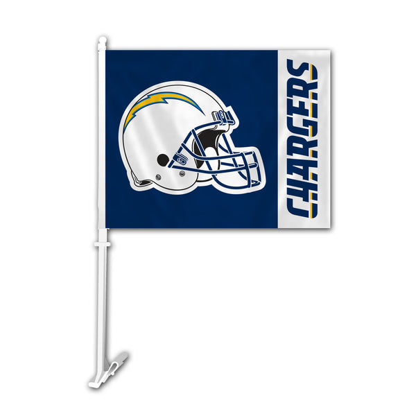 NFL LOS ANGELES CHARGERS HELMET CAR FLAG