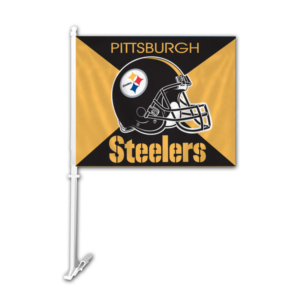 NFL PITTSBURGH STEELERS SPLIT CAR FLAG