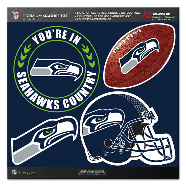 NFL SEATTLE SEHAWKS 4 PIECE MAGNET KIT