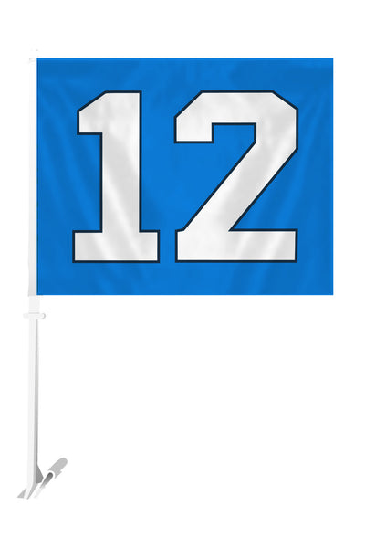 NFL SEATTLE SEAHAWKS 12TH MAN CAR FLAG