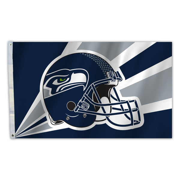 NFL SEATTLE SEAHAWKS HELMET 3' X 5' FLAG