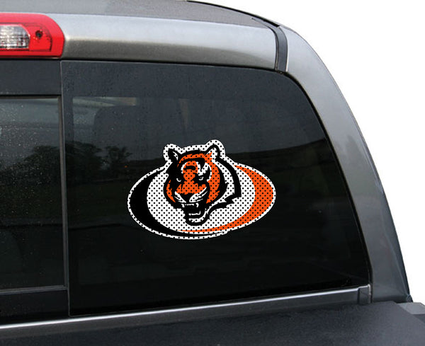 NFL CINCINNATI BENGALS SMALL WINDOW FILM (SWOOSH)