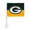 Green Bay Packers Split Car Flag