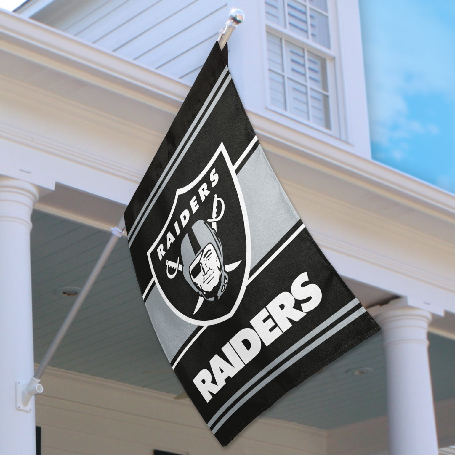 Las Vegas Raiders Official 2 Sided House Flag Imported Fremont Die Retail Store