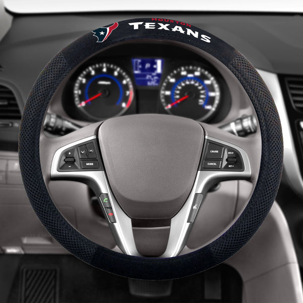 Houston Texans Poly-Suede Steering Wheel Cover
