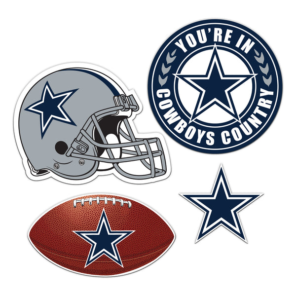 Dallas Cowboys 4 Piece Magnet Kit