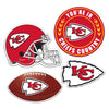 Kansas City Chiefs 4 Piece Magnet Kit