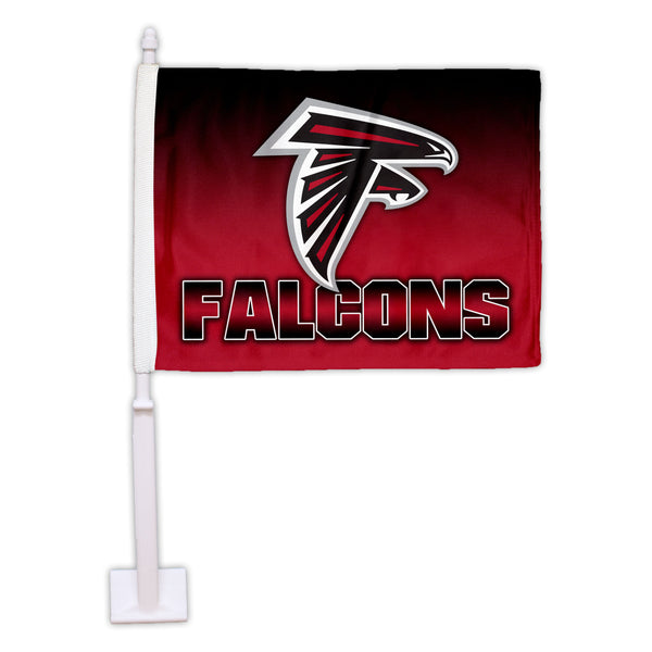 Atlanta Falcons Ombre Car Flag