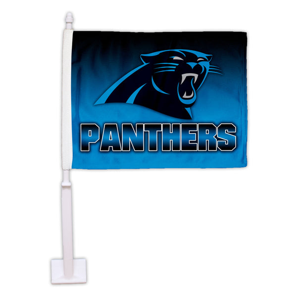 Carolina Panthers Ombre Car Flag