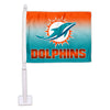 Miami Dolphins Ombre Car Flag